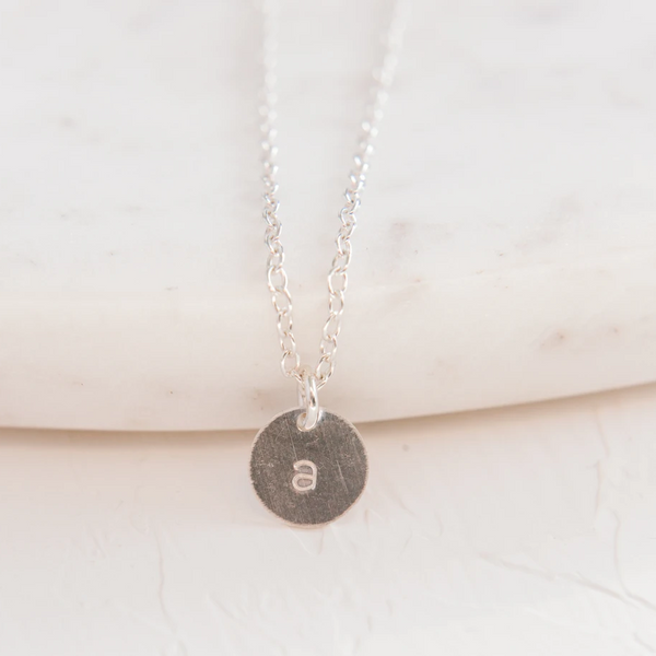 Silver Letter 8.9mm Necklace