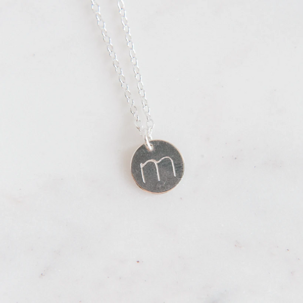 Silver Letter 11mm Necklace