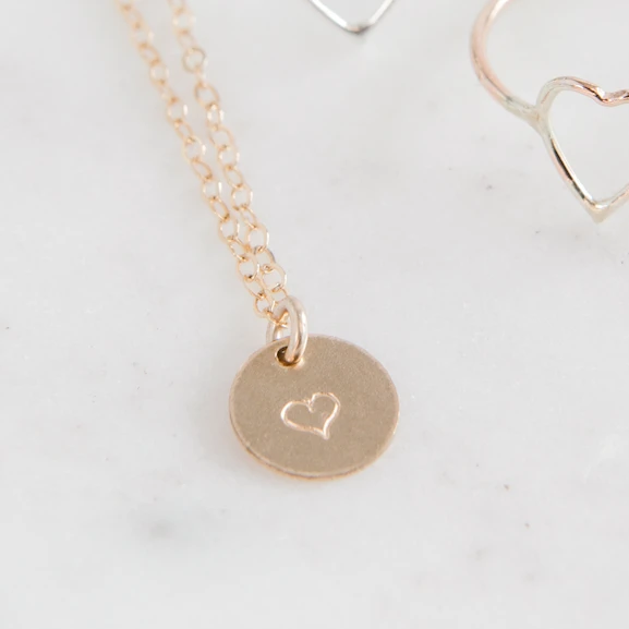 Heart Stamped Necklace