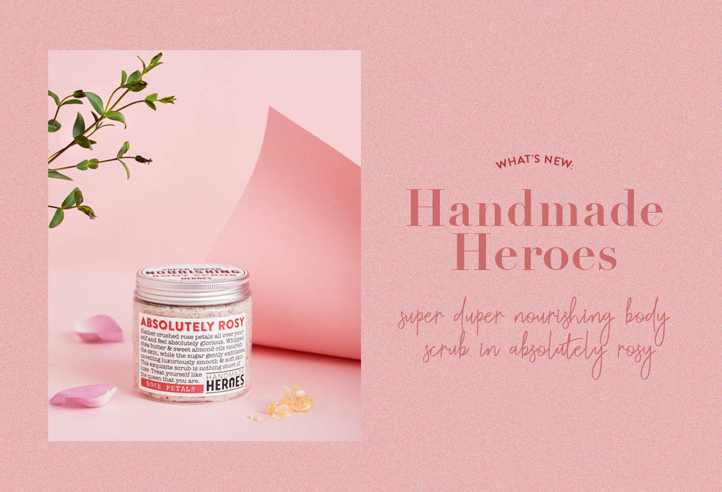 Handmade Heroes Super Duper Nourishing Body Scrub in Absolutely Rosy