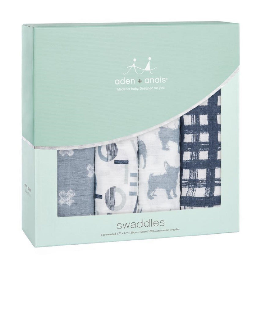 ADEN + ANAIS WEAVERLY SILKY SOFT SWADDLES - 4 PACK