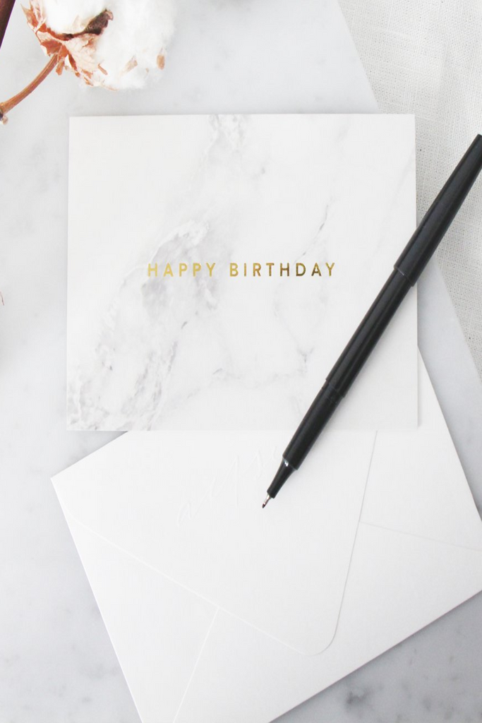 HAPPY BIRTHDAY CARD | MARBLE