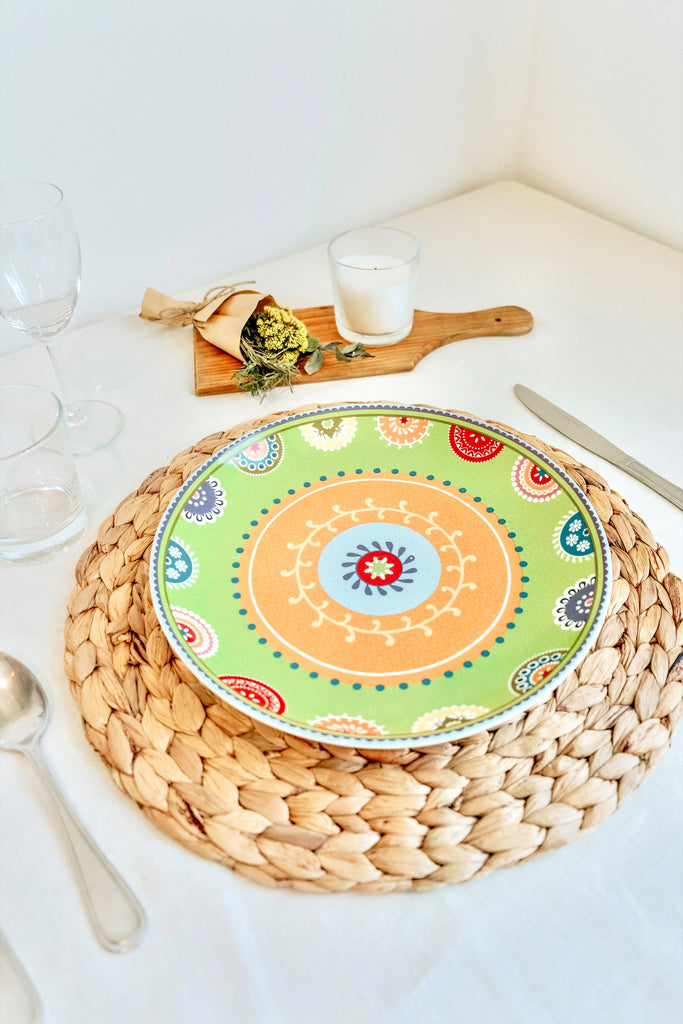 SMALL PAISLEY TURKISH PLATE - GREEN