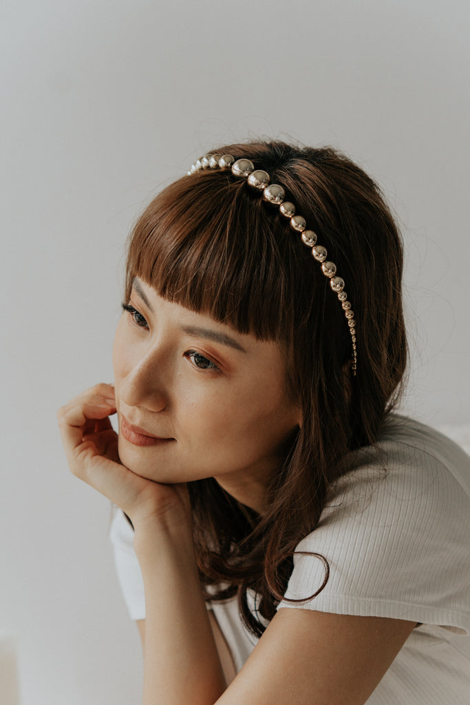COSTA PEARL HAIRBAND - GOLD