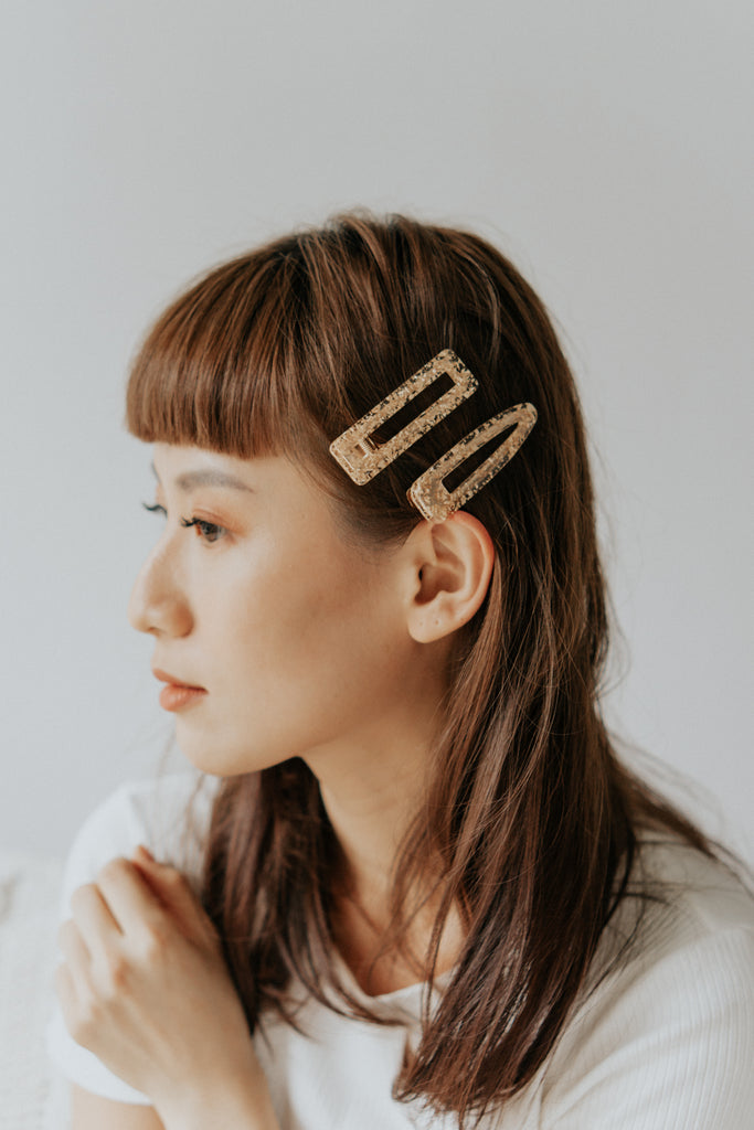 FLAKES HAIR PIN SET - GOLD