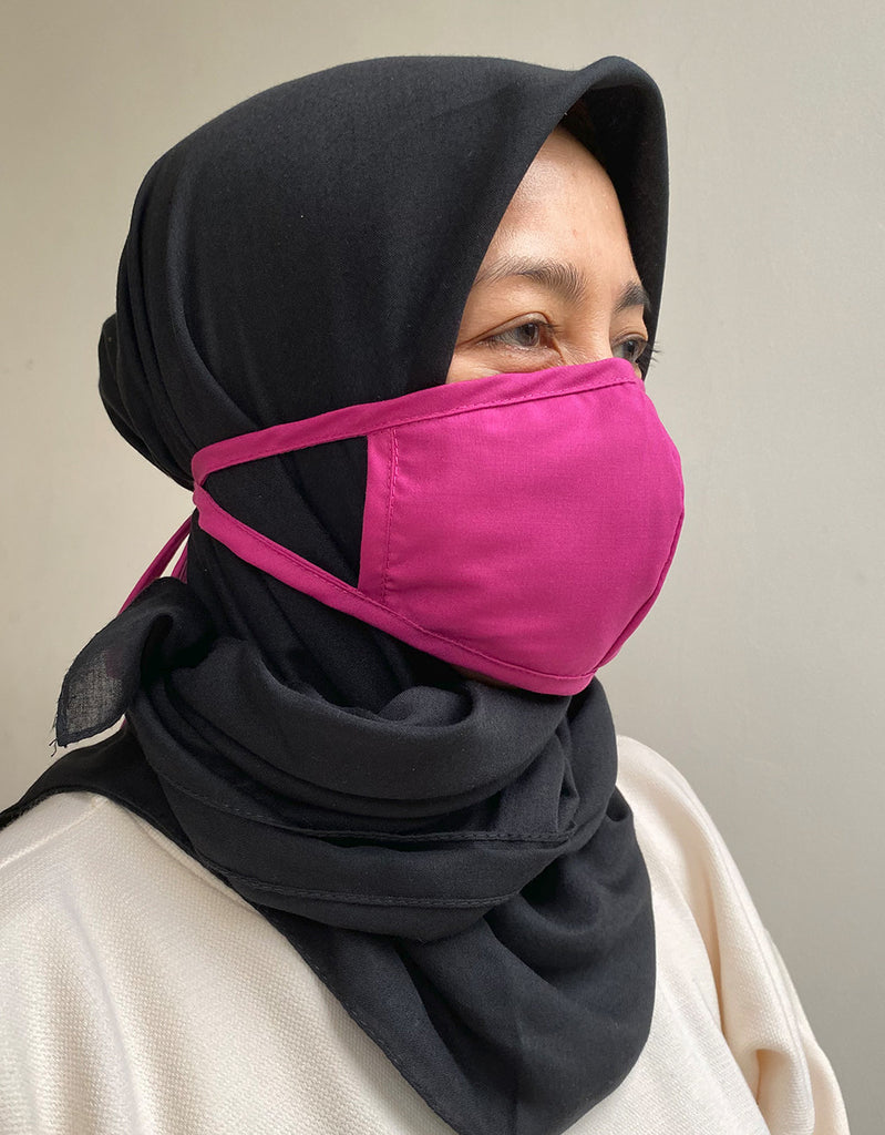 HIJAB FRIENDLY MASK WITH FILTER SLOT (PACK OF 2)