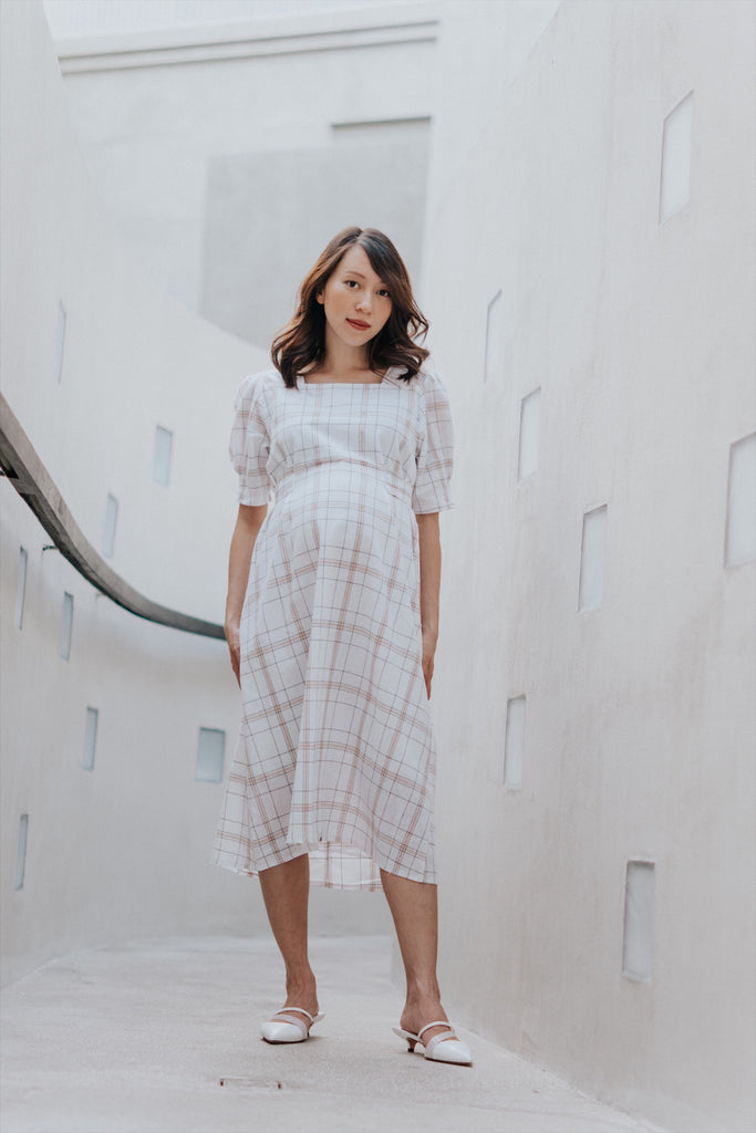 MIA TARTAN MIDI DRESS