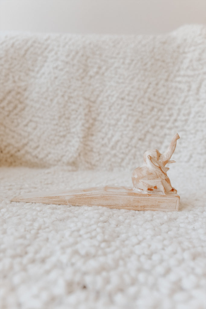 WOODEN ELEPHANT DOOR STOPPER
