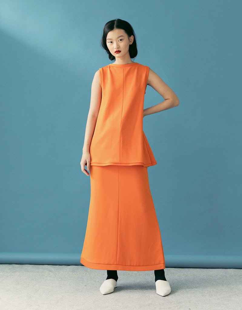 LOISE ORANGE SKIRT