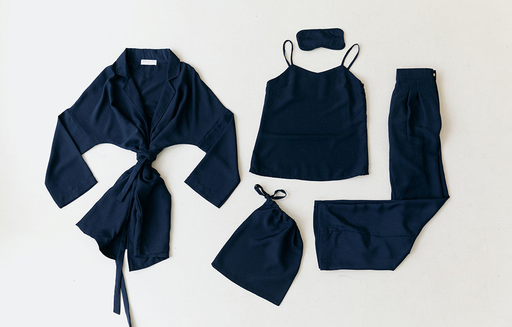 LOUNGE SET ESSENTIAL NAVY