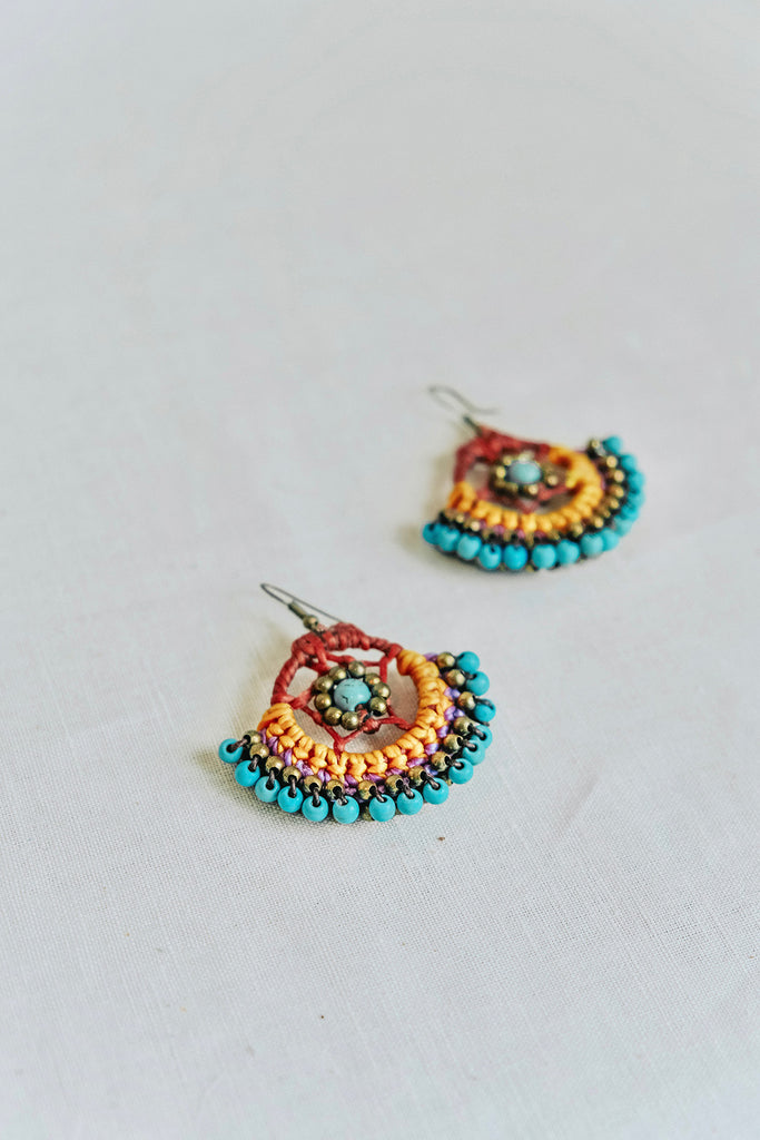 DREAMCATCHER EARRINGS - AQUA
