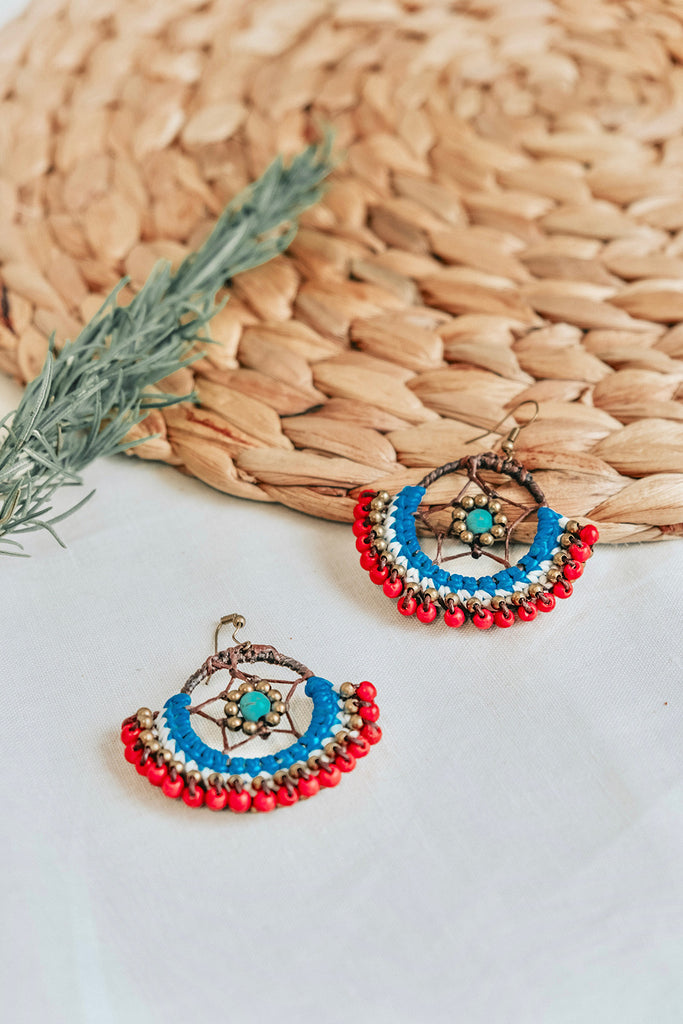 DREAMCATCHER EARRINGS - RED