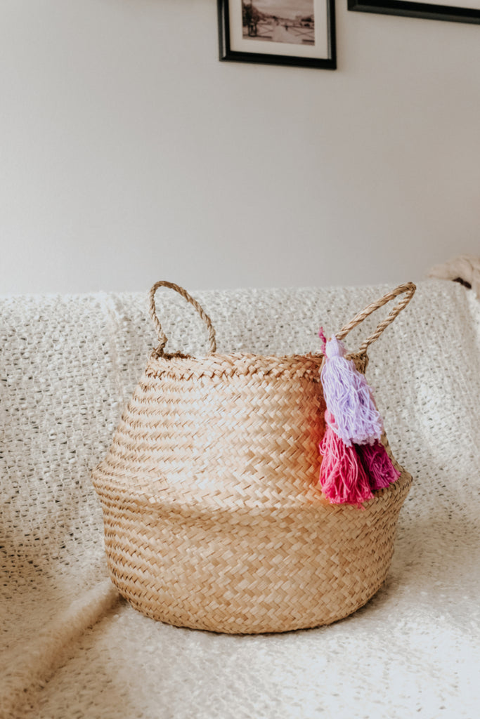 TASSEL BASKET | PURPLE HUES