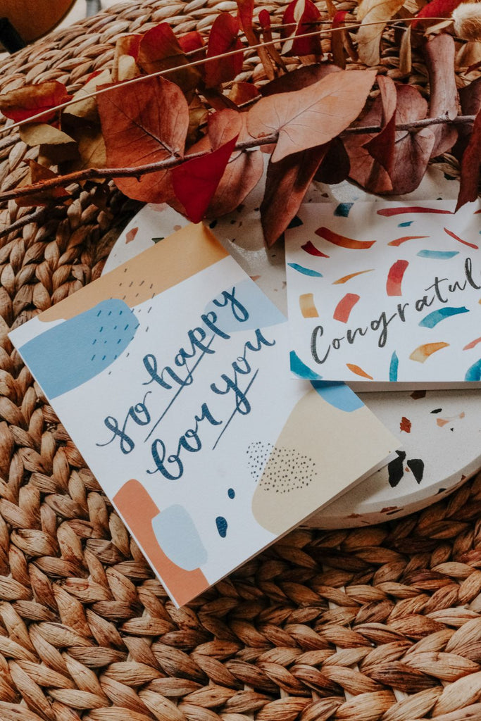SO HAPPY FOR YOU | PATTERNED CARD