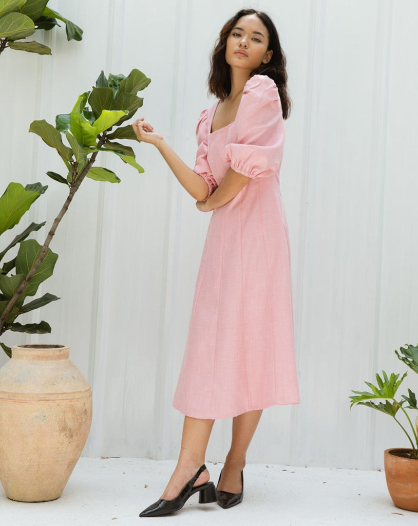 SAVANNA BLUSH DRESS