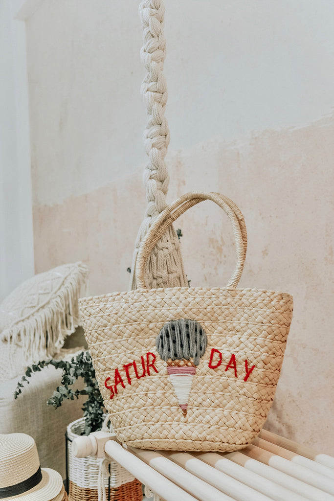 SATURDAY STRAW TOTE BAG