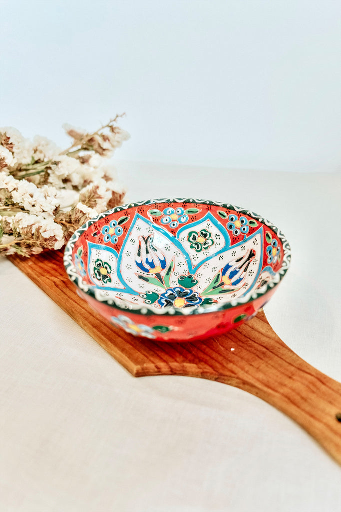 TURKISH BOWL WITH PRINT - ORANGE