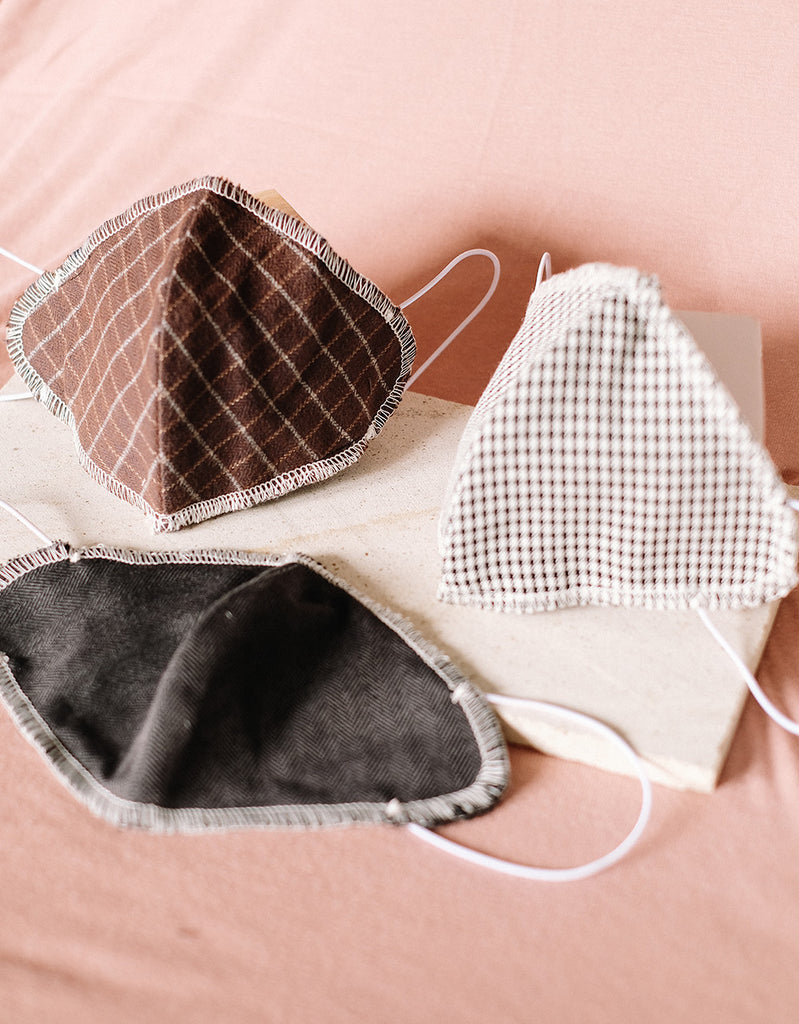 STYLISHLY DESIGNED CLOTH FACE MASK WITH FILTER SLOT (PACK OF 3 - BOLD SERIES)