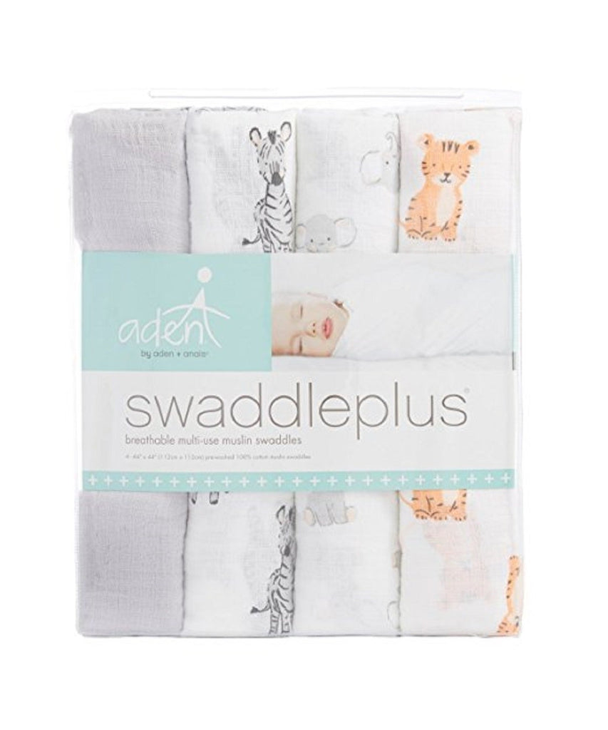 ADEN + ANAIS SWADDLES - SAFARI BABES 4 PACK