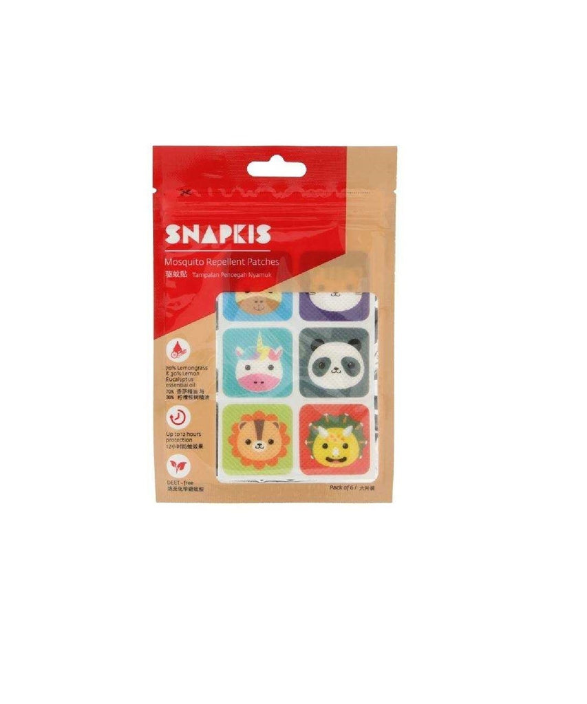 SNAPKIS MOSQUITO REPELLENT PATCH - 6 PCS PACK