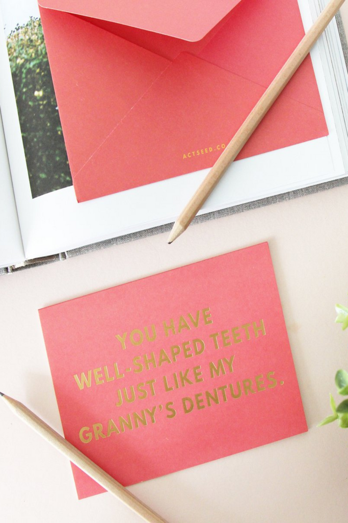 QUIRKY SERIES | GRANDMA'S DENTURES
