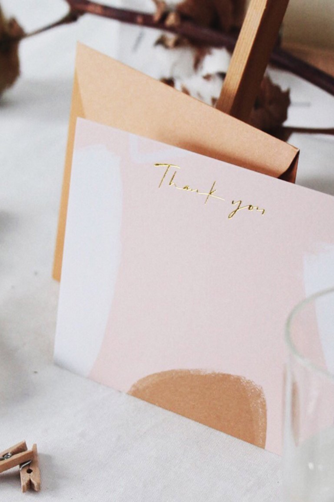 THANK YOU CARD | CAMEL