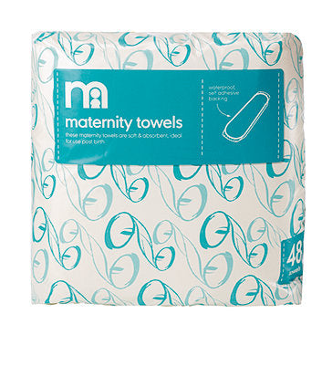 MOTHERCARE MATERNITY TOWELS PADS - WHITE 48 PACK