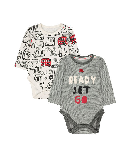 BIG RED BUS BODYSUITS - 2 PACK