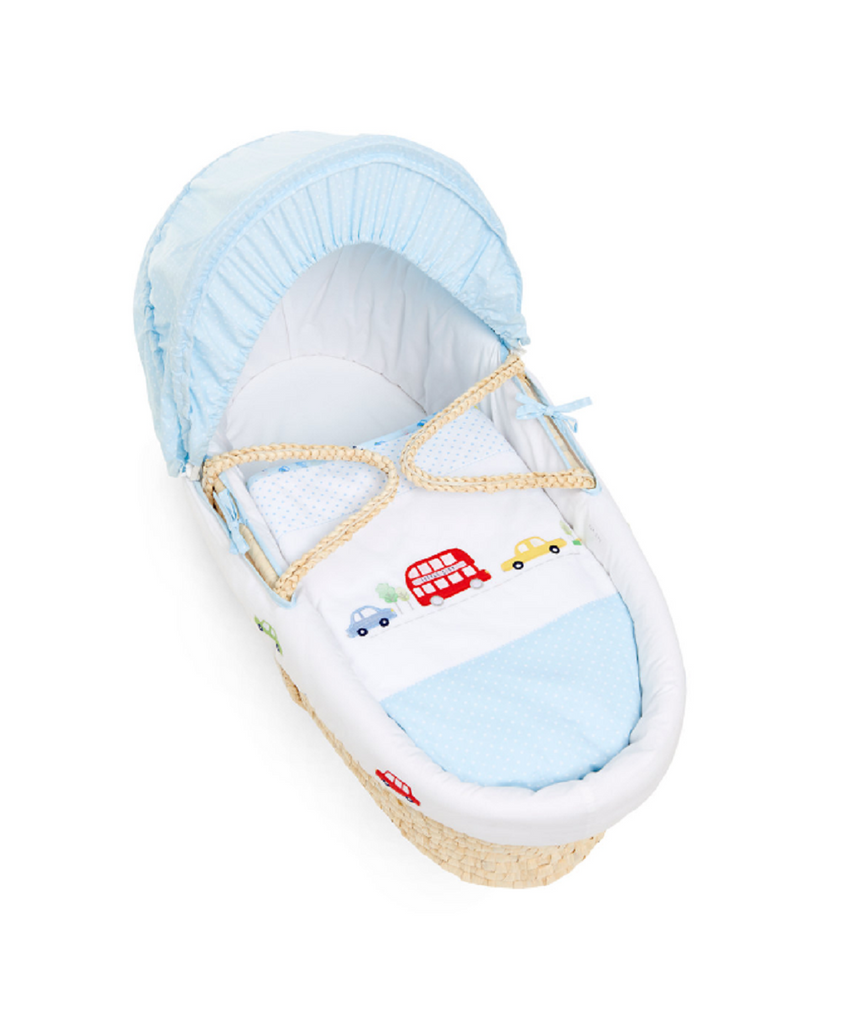MOTHERCARE ON THE ROAD MOSES BASKET - BLUE