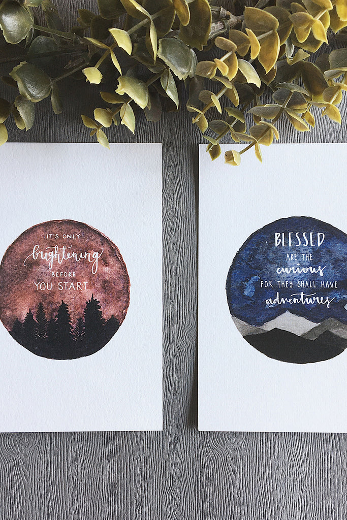 ADVENTURE SERIES | INSPIRATIONAL WATERCOLOR POSTCARDS