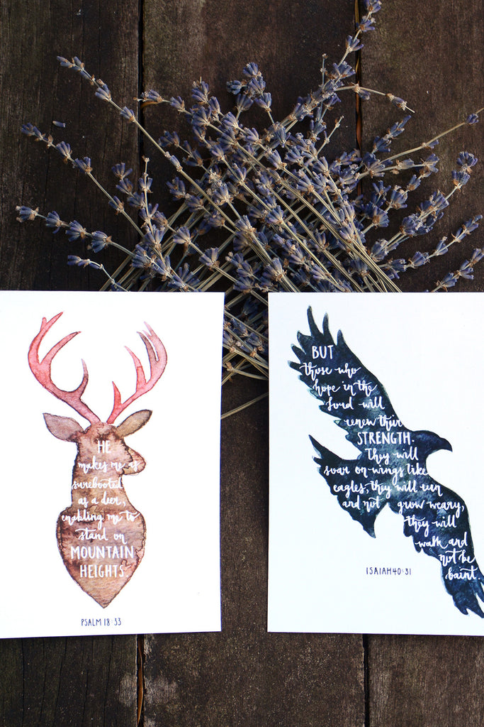 ANIMAL SILHOUETTES | CHRISTIAN INSPIRATIONAL POSTCARDS