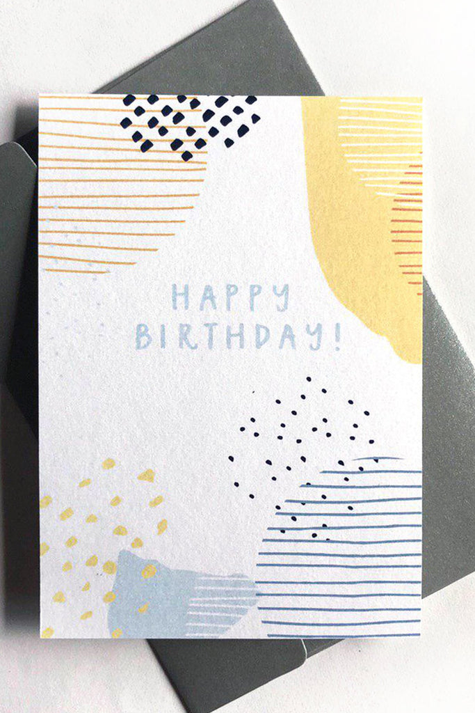 HAPPY BIRTHDAY | TEXTURED MOSAIC CARD