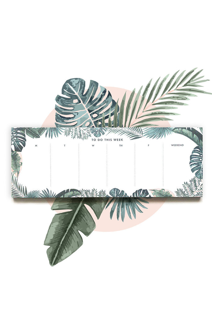 TROPICAL FOREST | WEEKLY DESKTOP PLANNER