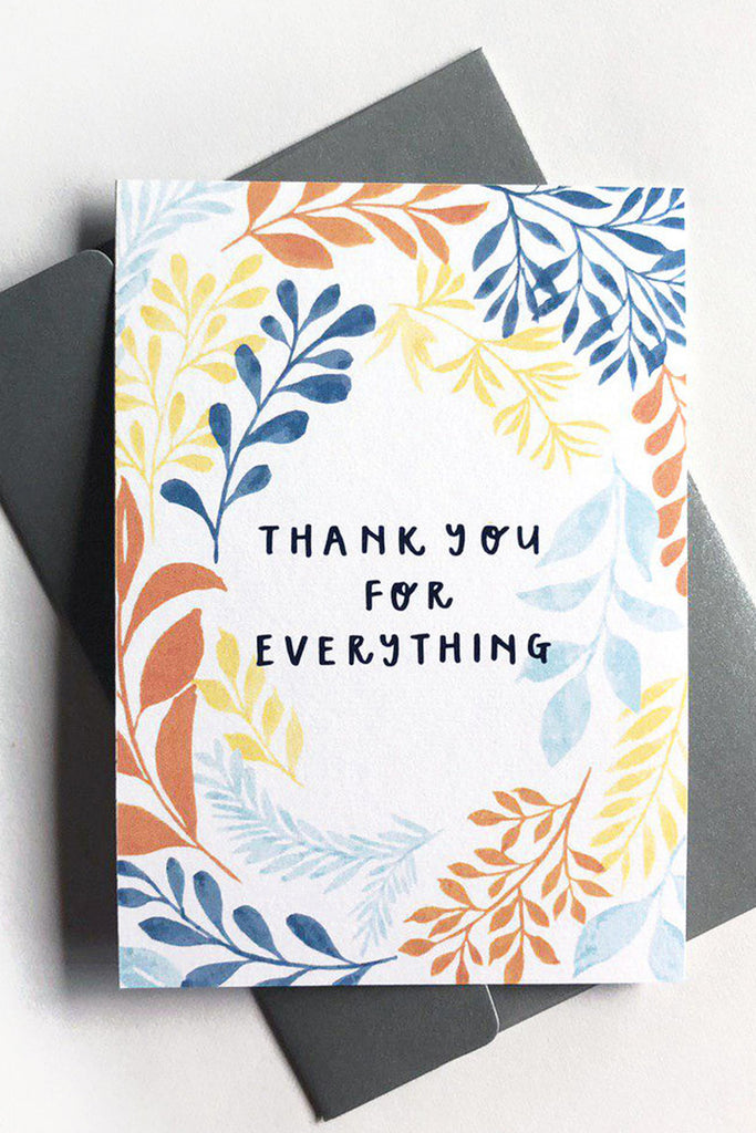 THANK YOU FOR EVERYTHING | LEAFY WREATH CARD