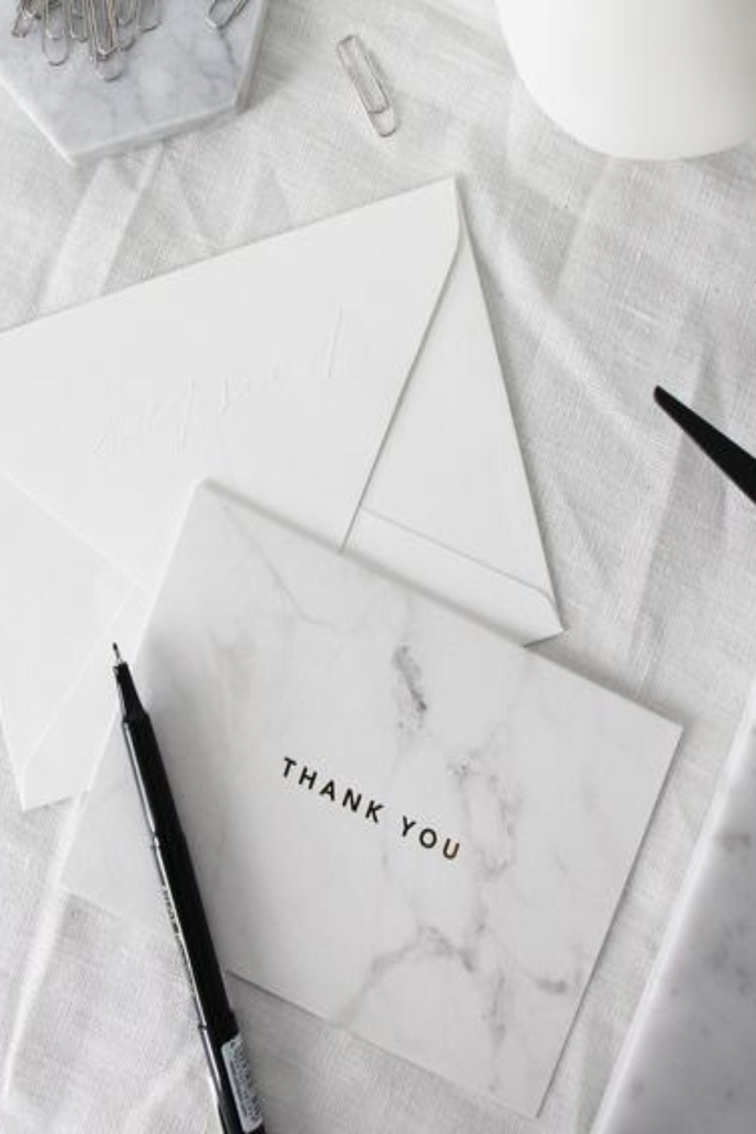 THANK YOU CARD | MARBLE