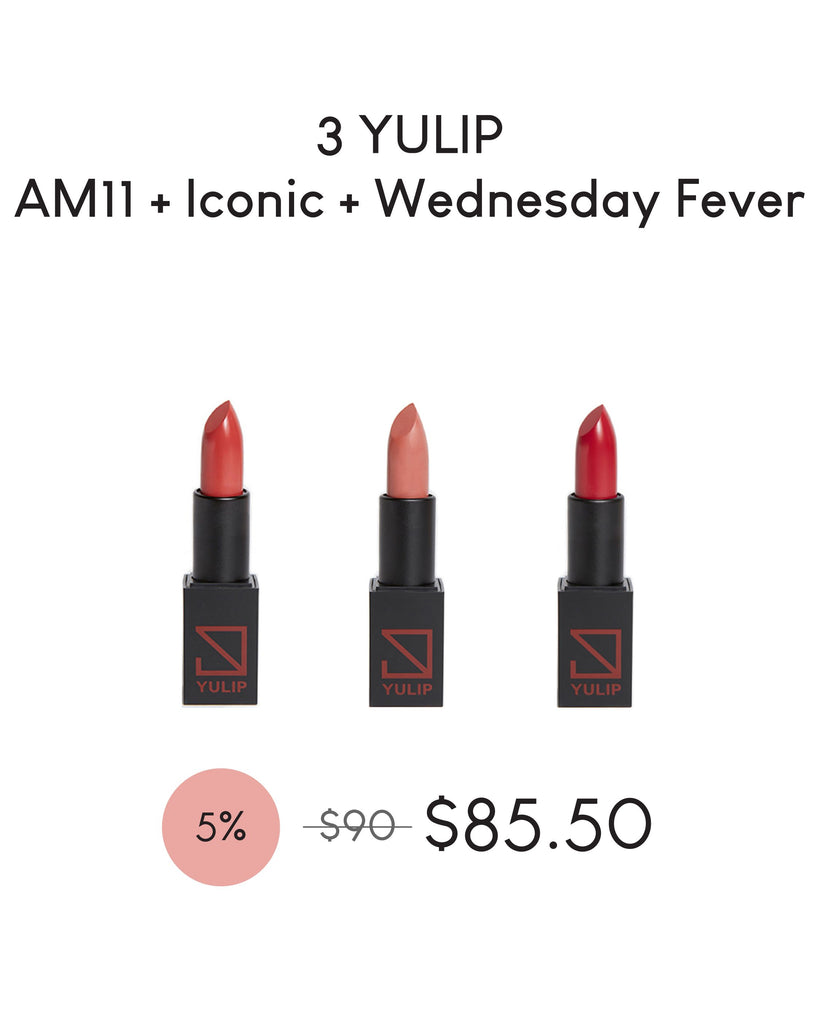 LAUNCH DEAL - 3 YULIP LIPSTICK (AM11:00 + ICONIC + WEDNESDAY FEVER)