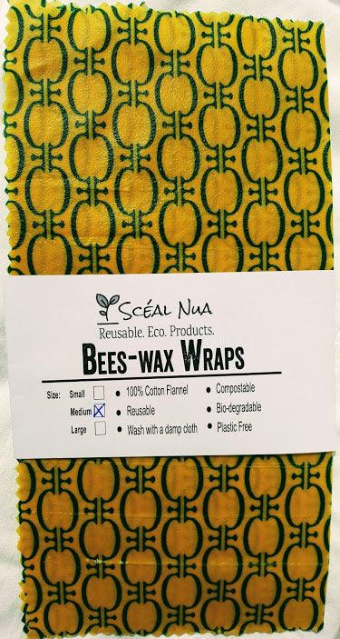 "Bees-Wax Wrap - Medium 10"" x 10"""