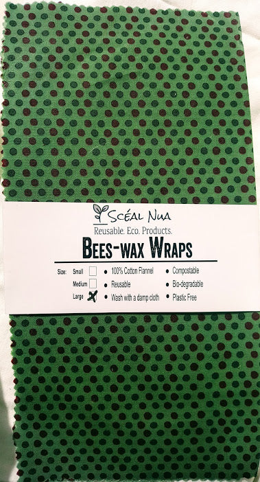 "Bees-Wax Wrap - Large 12""x12"""
