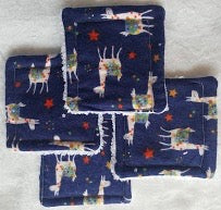 Reusable Cotton Pads Navy Llamas