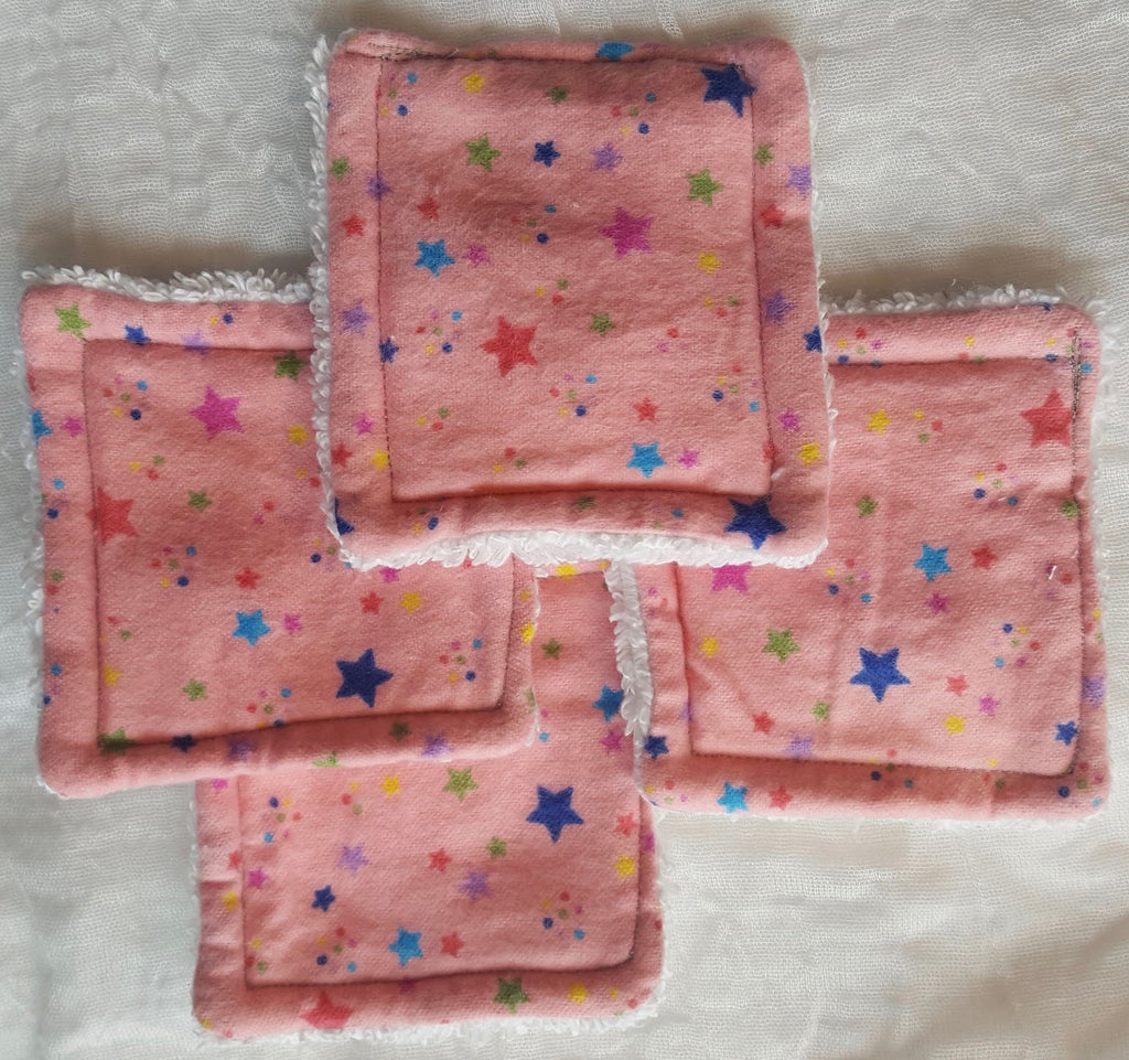 Reusable Cotton Pads Pink Stars