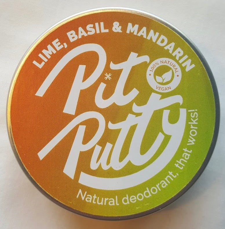 Pit Putty Natural Deodorant - Lime, Basil and Mandarin