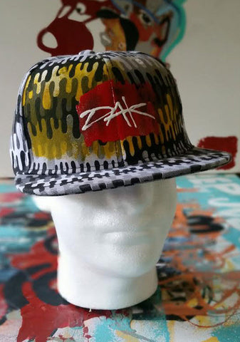 Customized Hand Painted Snapback Hat (Original Sold) 15 available for custom order