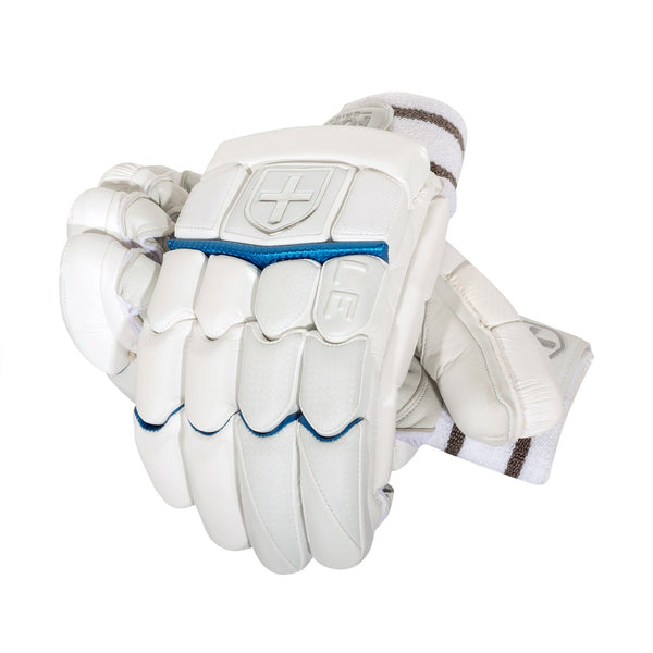 LIMITED BATTING  GLOVES WHITE/BLUE
