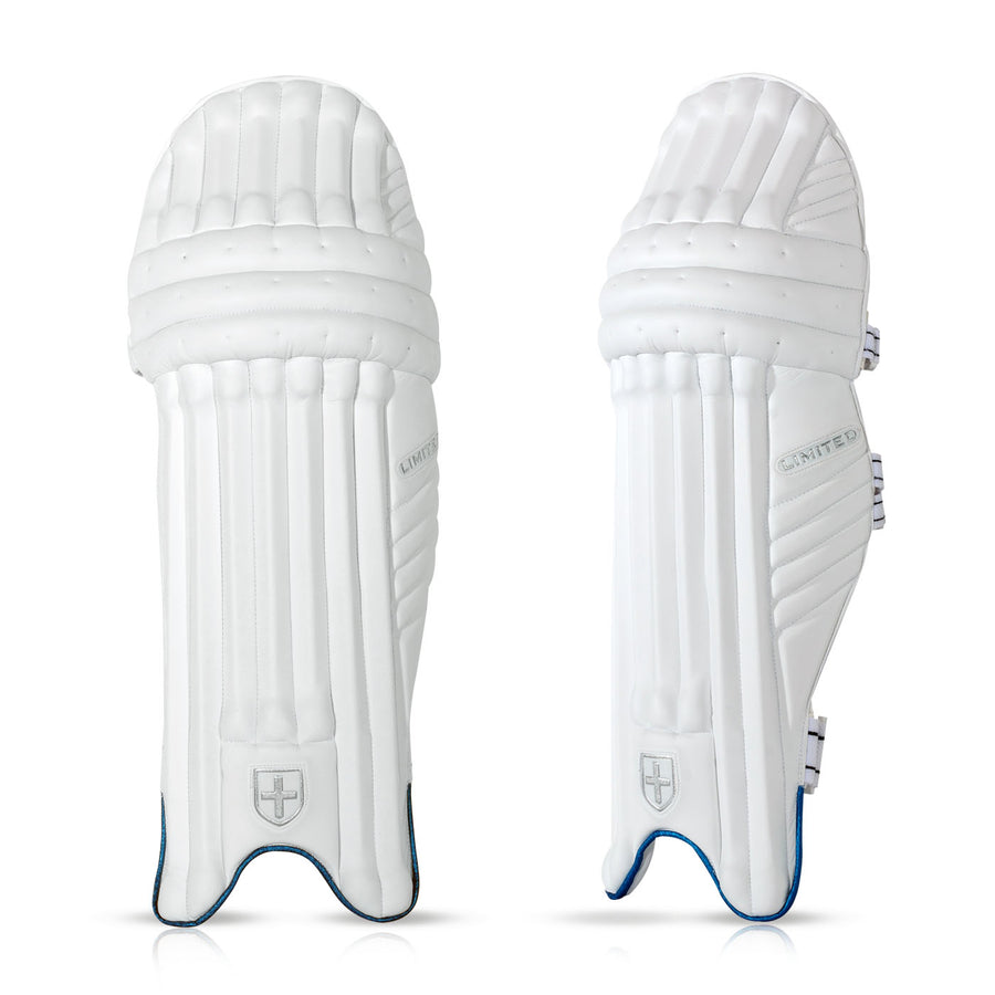 LIMITED BATTING PADS WHITE/BLUE