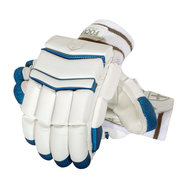 PLATINUM BATTING GLOVES WHITE/BLUE