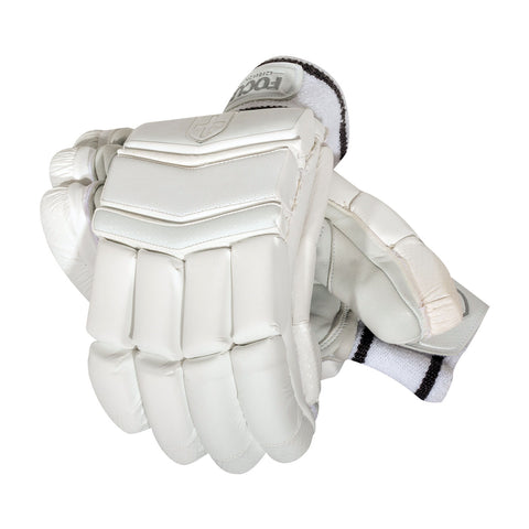 PLATINUM BATTING GLOVES WHITE