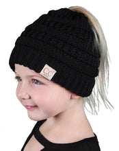 Load image into Gallery viewer, KIDS PONYTAIL BEANIE