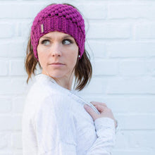 Load image into Gallery viewer, Handmade Ponytail Beanie