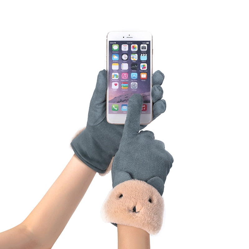 NEW WARM DOUBLE THICK TOUCH SCREEN DRIVING GLOVES