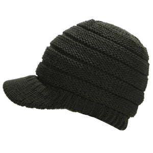 Ponytail Beanie Hat Knitted Winter Cap